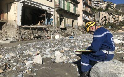 Tempête Alex: le Corps mondial de secours dans les Alpes maritimes
